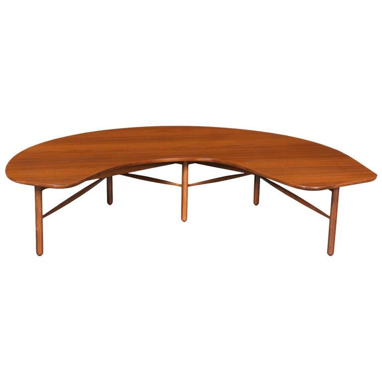 Greta M Grossman Half Moon Coffee Table For Glenn Of California For Sale At 1stdibs