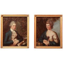 Pair of 18th Century Portrait Paintings