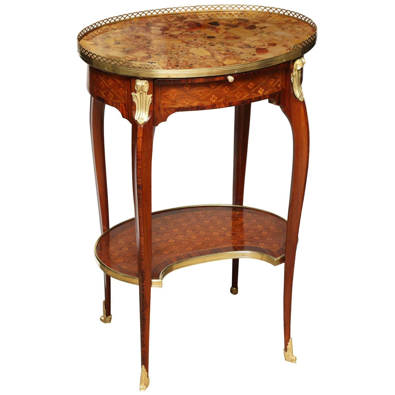 French transitional oval end table for sale at stdibs