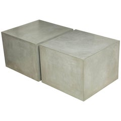 Concrete Blocks Forming a Cocktail Table