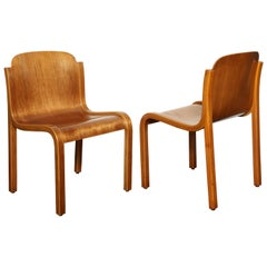 Pair of Mid-Century Molded Beechwood Side Chairs
