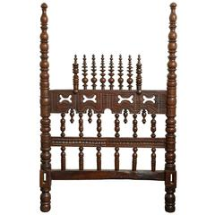 Portuguese 18th Century Mahogany Bed