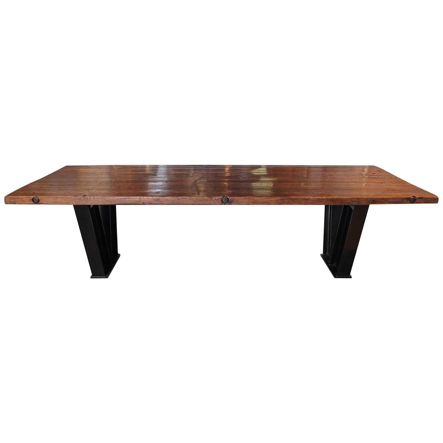 French pine dining table at 1stdibs for Pine dining room table