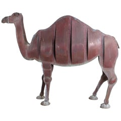 Lifesize Copper Camel Sculpture by Ken Kalman