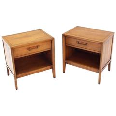 Pair of Mid-Century One Drawer Nightstands by Drexel