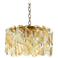 Clear and Amber Chandelier by Mazzega