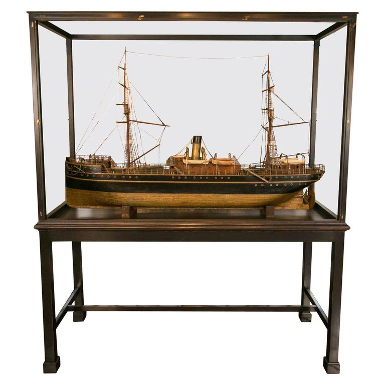 Late 19th Century Working Steam Model of a Passenger Freighter