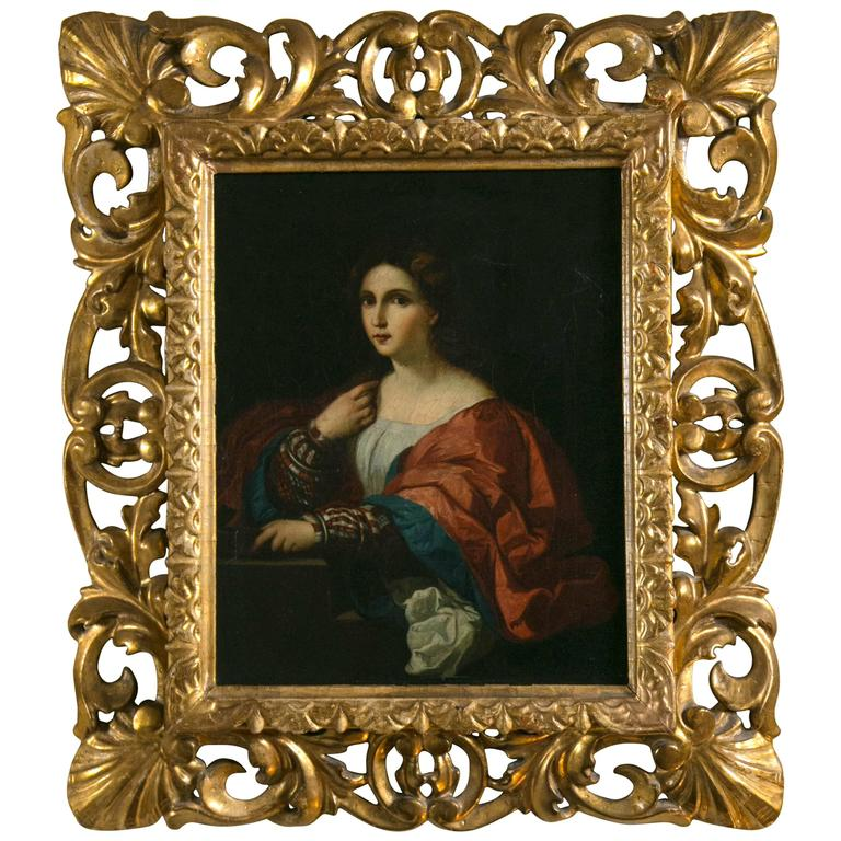 Portrait of a Young Woman in a Gilt Frame