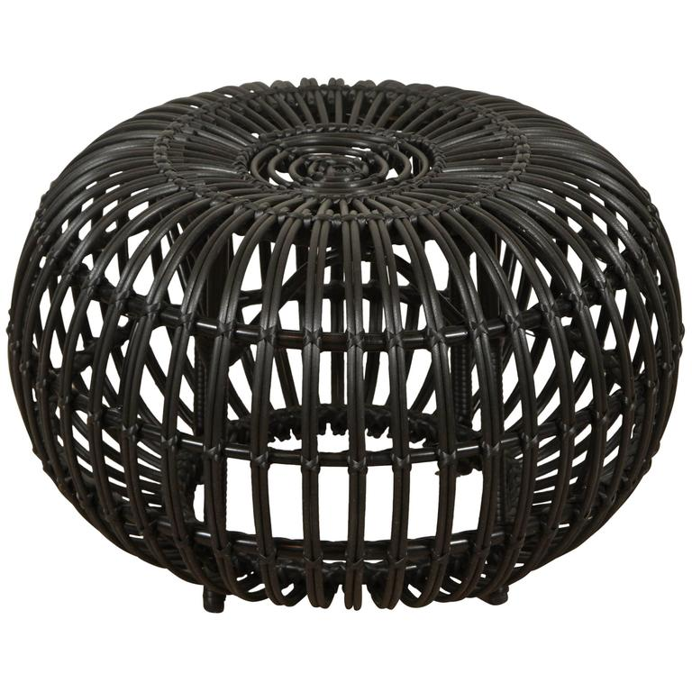 Outdoor Rattan Ottoman By Franco Albini At 1stdibs