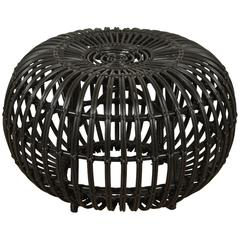 Outdoor Rattan Ottoman by Franco Albini