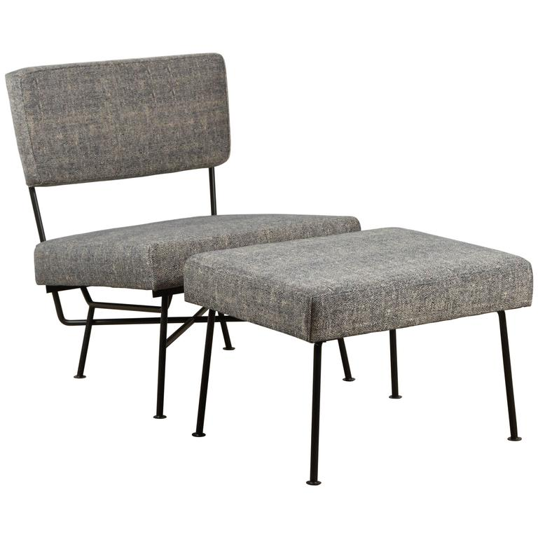 Outdoor Montrose Chair and Ottoman by Lawson-Fenning For Sale