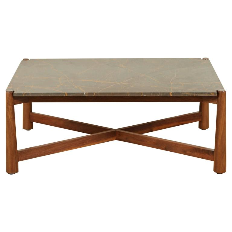 Bronson Coffee Table with Bronzetto Stone Top by Lawson-Fenning