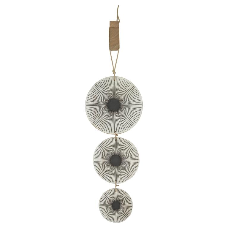 Three Disc Quot Fire Fly Quot Ceramic Wall Hanging By Mquan Studio