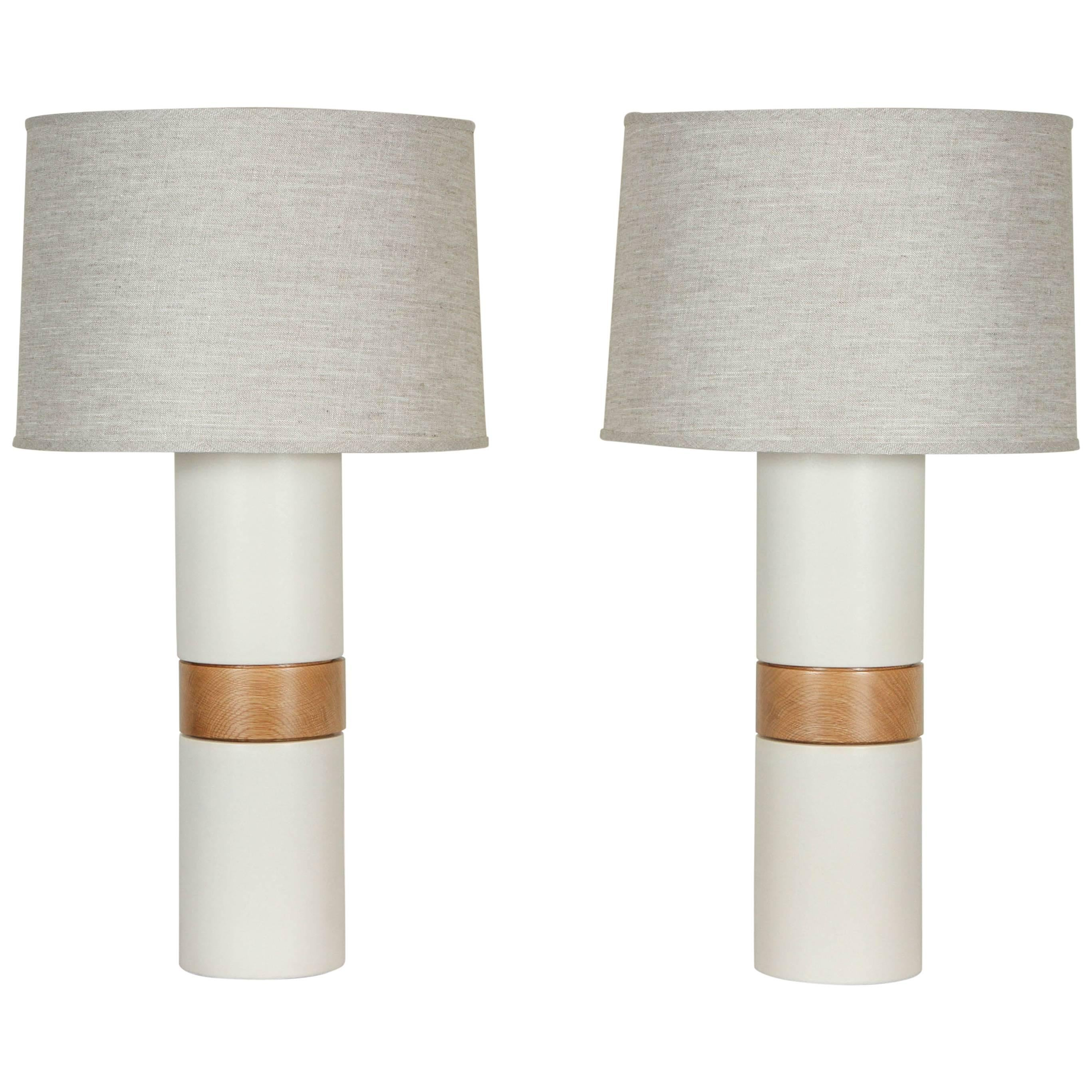 Pair of Holly Lamps by Stone and Sawyer