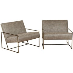 Thin Frame Lounge Chairs by Lawson-Fenning