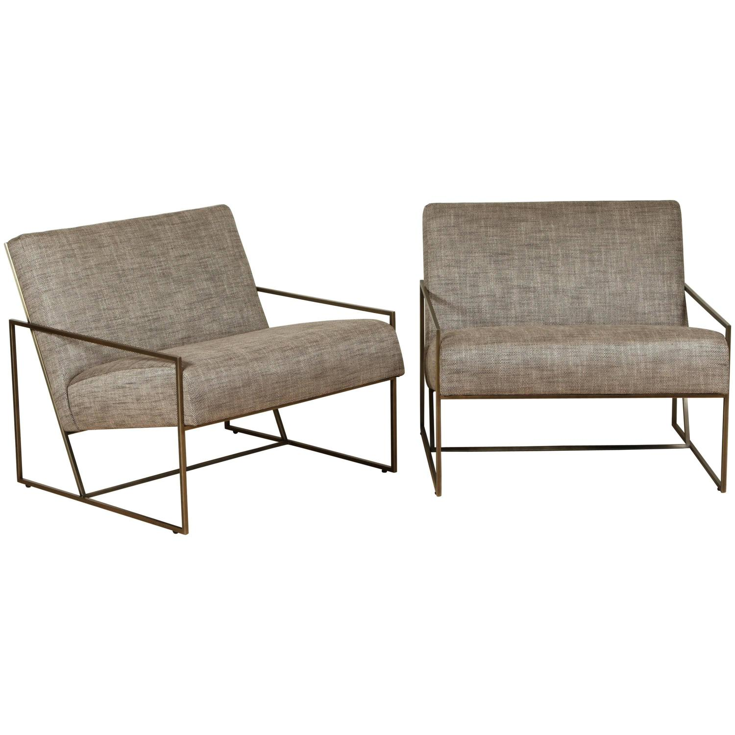 Thin Frame Lounge Chairs By Lawson Fenning For Sale At 1stdibs