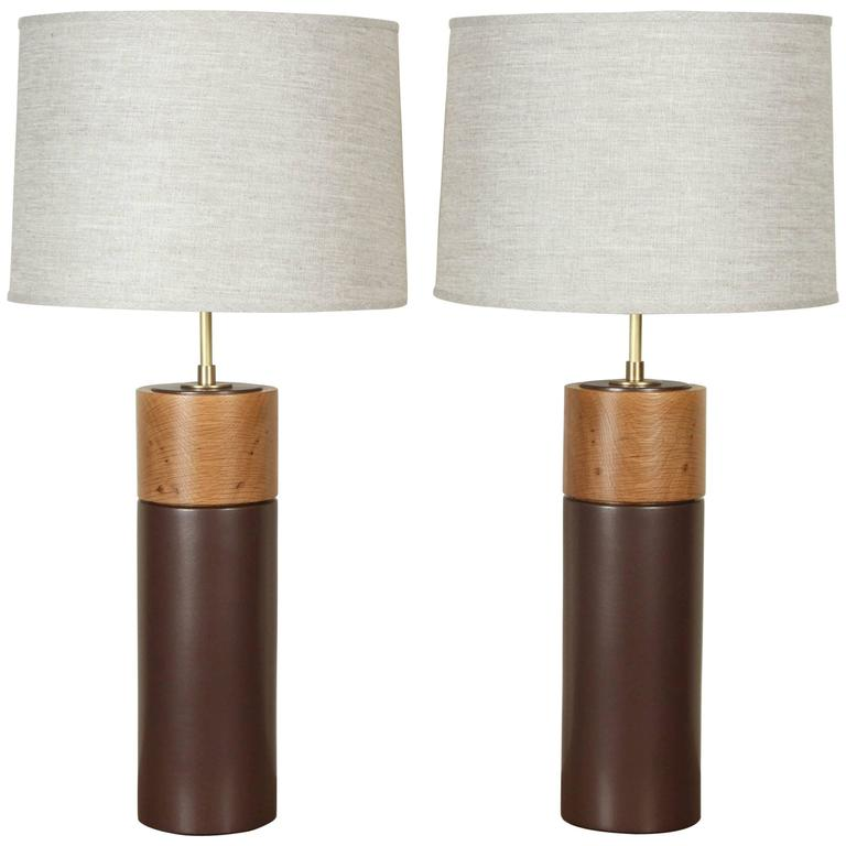 Pair of Tall Pipa Lamps by Stone and Sawyer