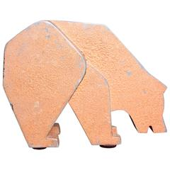 Aluminum and Metal Store Display Bear