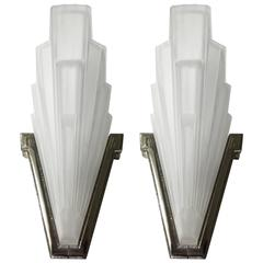 Pair of French Art Deco Sconces by Sabino