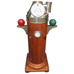 English Mahogany & Brass Ships Binnacle. Henry Browne & Son Ltd., Circa 1900