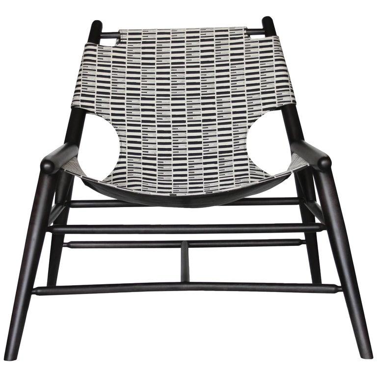 Milk Sling Chair, Stripe by Anna Karlin For Sale