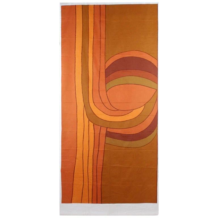 """Textile, """"Roads,"""" Designed by Gretl and Leo Wollner for Knoll Int., 1972 For Sale"""