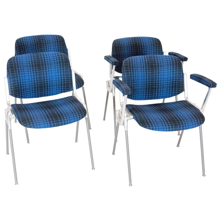 Set of Four Chairs by Giancarlo Piretti