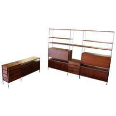 Hugh Acton Floating Wall Shelf Unit Room Divider and Credenza