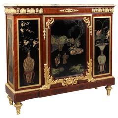 19th Century Gilt Bronze Mounted Coromandel Lacquer Cabinet by Maison Forest