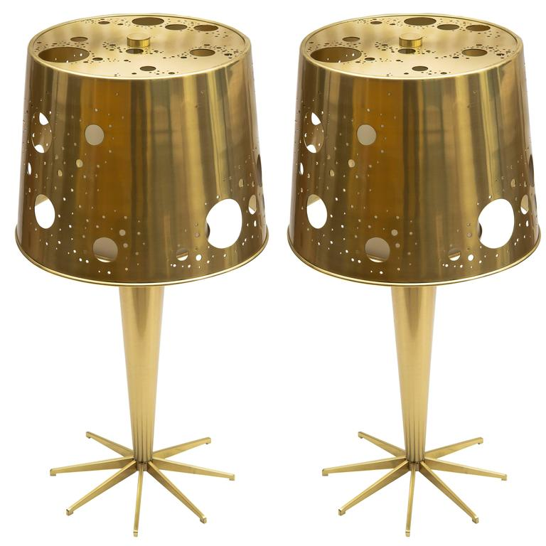 Pair of 'Lattea' Table Lamps by Roberto Giulio Rida