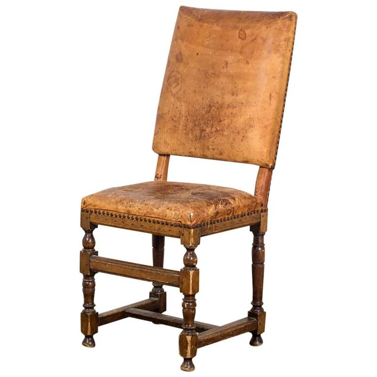 Side Chair Swedish Baroque Leather Sweden