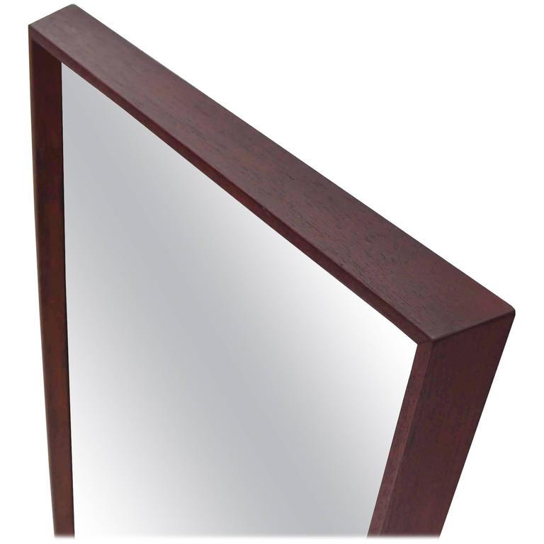 Danish Modern Thick Frame Rectangular Mirror