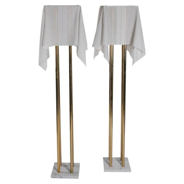 """Set of Two """"Nefer"""" Floor Lamps by Kazuhide Takahama for Sirrah"""