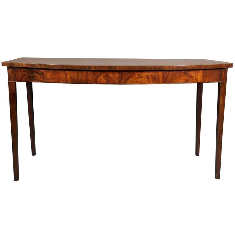 George III Mahogany and Banded Serving Table
