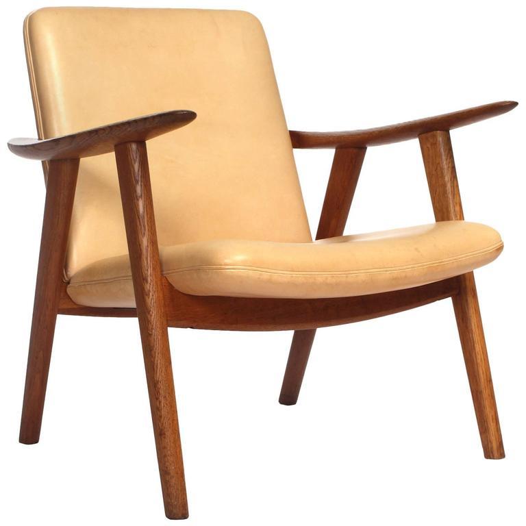Oak Reading Chair By Hans J. Wegner