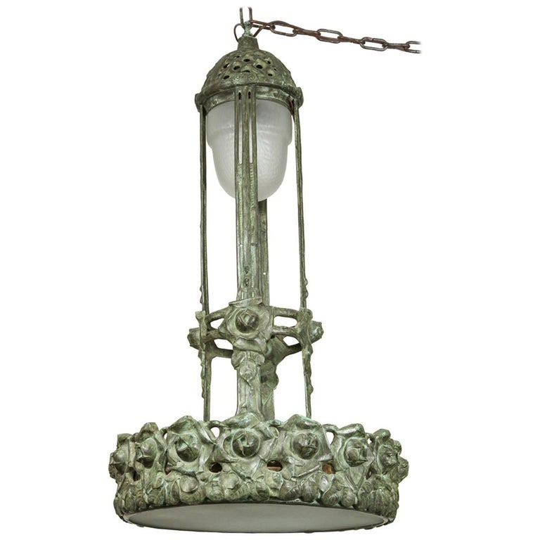 Remarkable, Period, Art Nouveau Chandelier