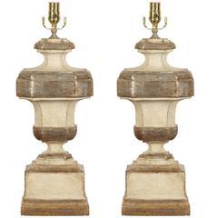 """Vittorio,"" Silver Gilt Lamps"