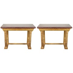 Excellent Pair of 19th Century, Gilded Consoles