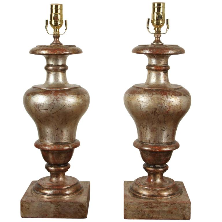 Silver Gilded, Florentine Table Lamps For Sale