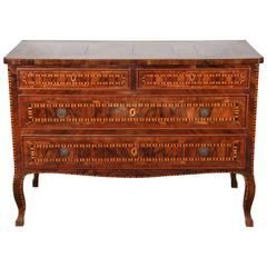 19th Century, Inlaid, Tuscan Commode