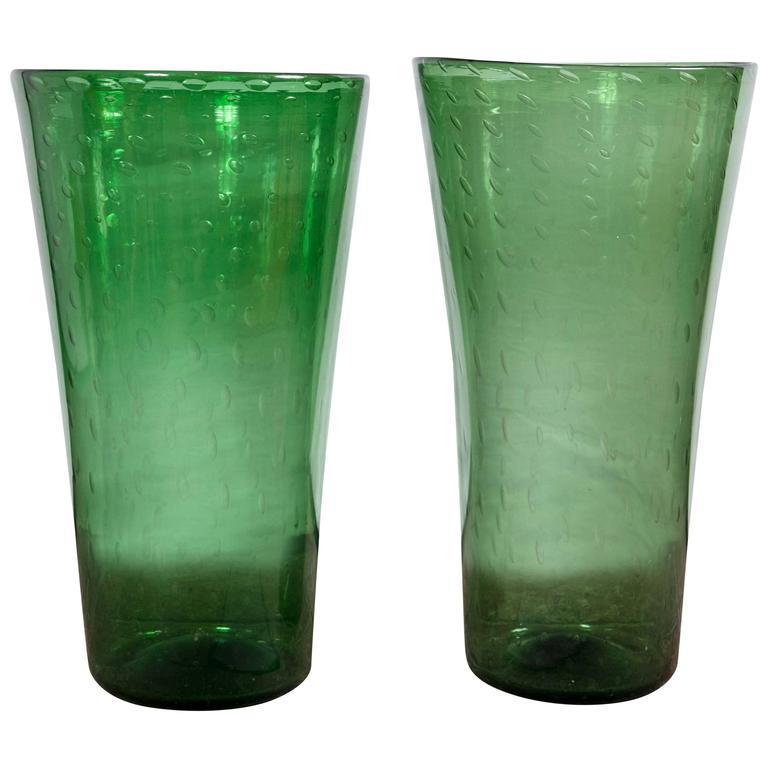 Green Empoli Glass Vases