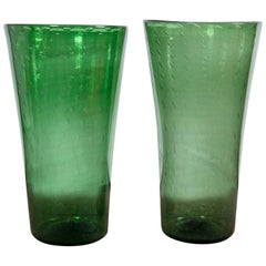 Green Empoli Glass Vases