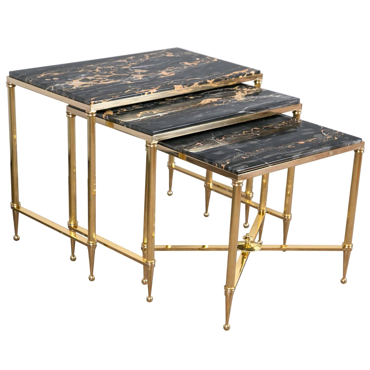 Set Of Three Bronze Nesting Tables For Sale At 1stdibs. Full resolution  portraiture, nominally Width 1500 Height 1500 pixels, portraiture with #947137.