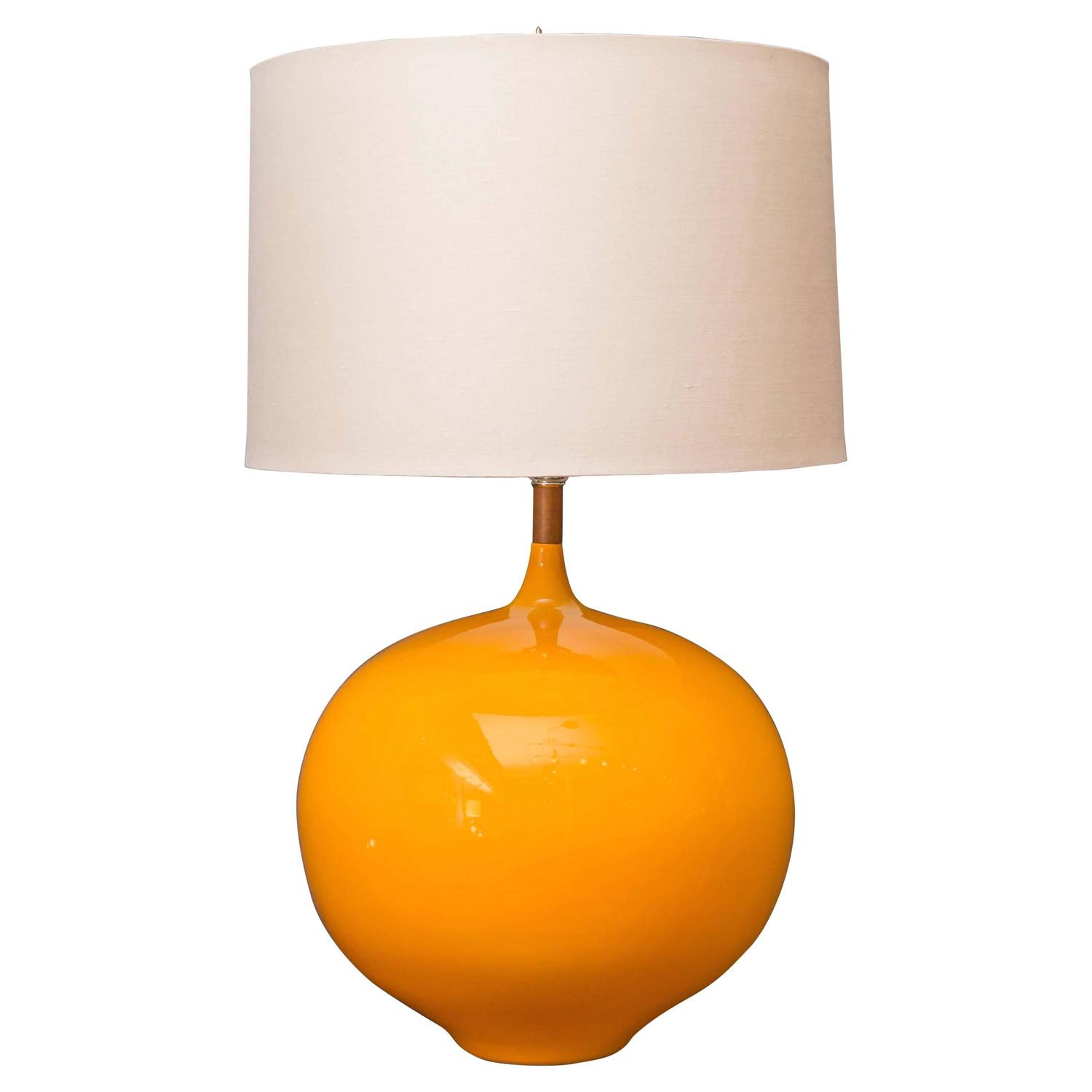 mid century modern yellow lamp at 1stdibs. Black Bedroom Furniture Sets. Home Design Ideas
