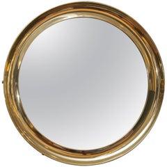 Italian Brass Port Hole Mirror
