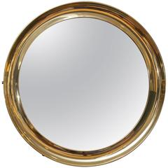 Italian Brass Port Hole Mirror