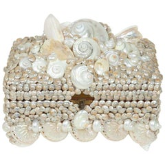 Shell covered Coquillage Box