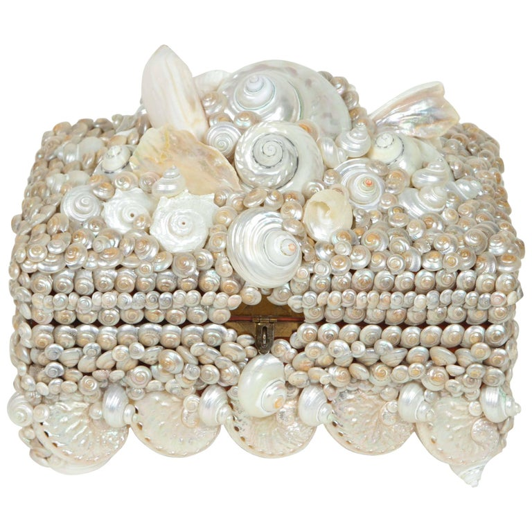 Shell covered Coquillage Box  For Sale