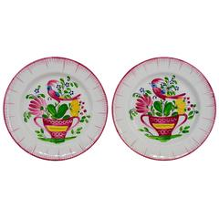 Pair of 19th Century French Faience Plates