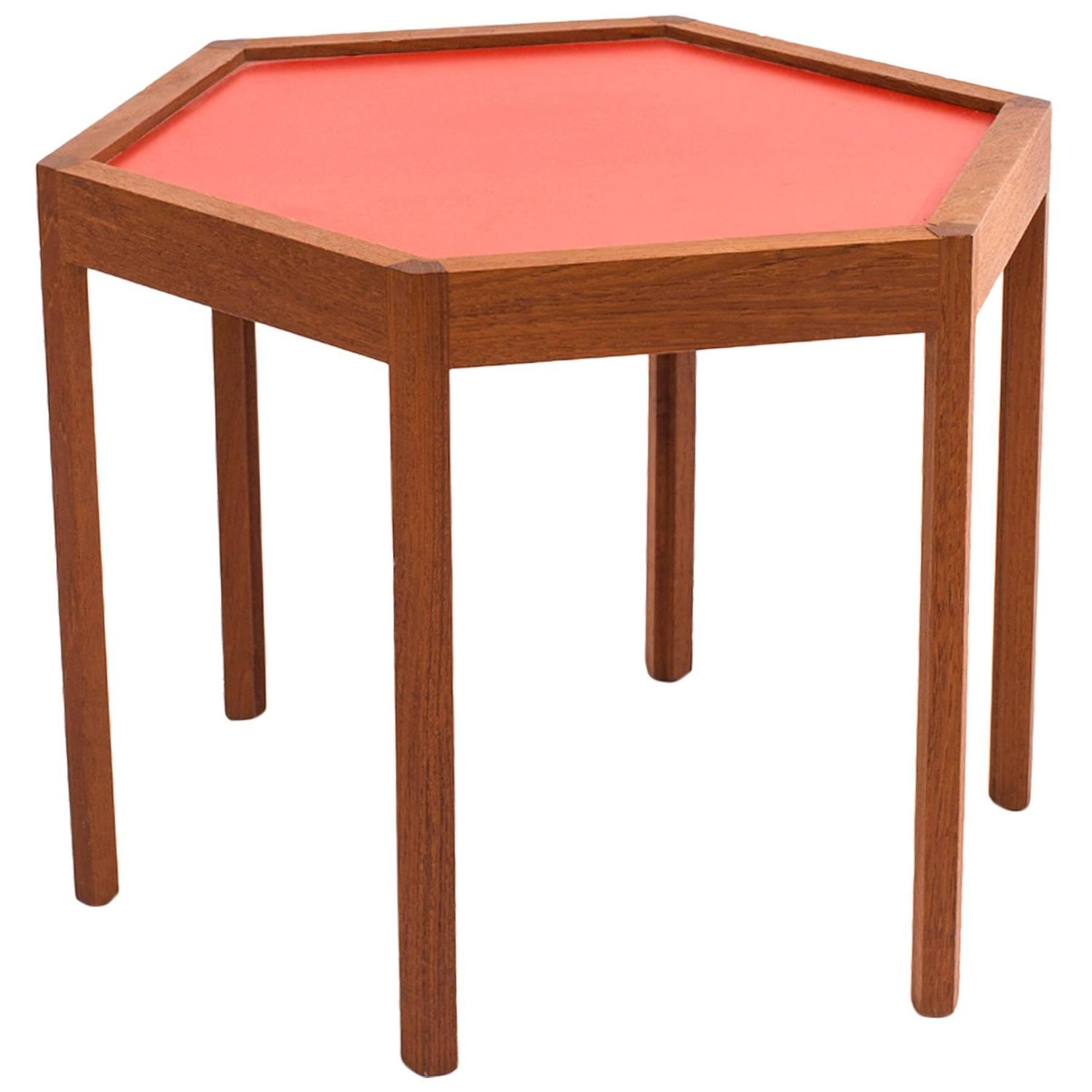 Octagon Side Table ~ Hans c andersen octagonal teak side table at stdibs